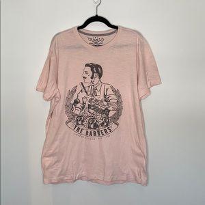 British Invasion pink short sleeve barbers tee XL